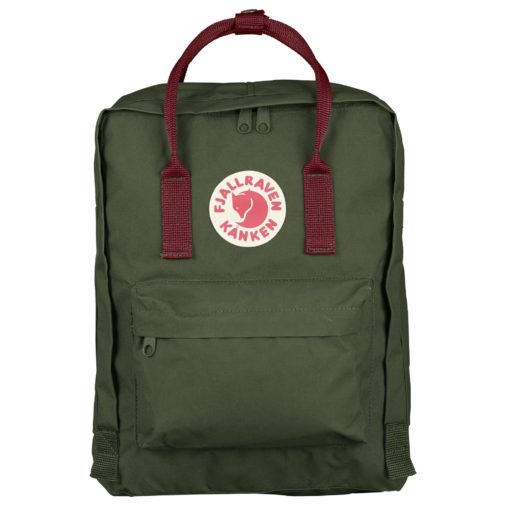 fjallraven kanken forest green ox red